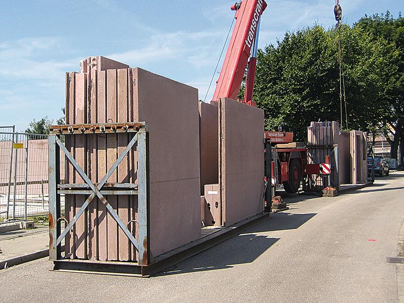 Schnelle Anlieferung und Montage auf der Baustelle